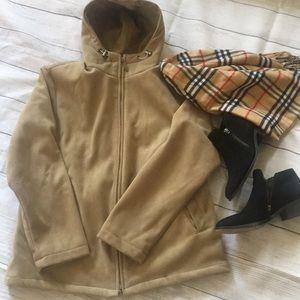 EUC CHIC faux suede washable soft jacket L XL